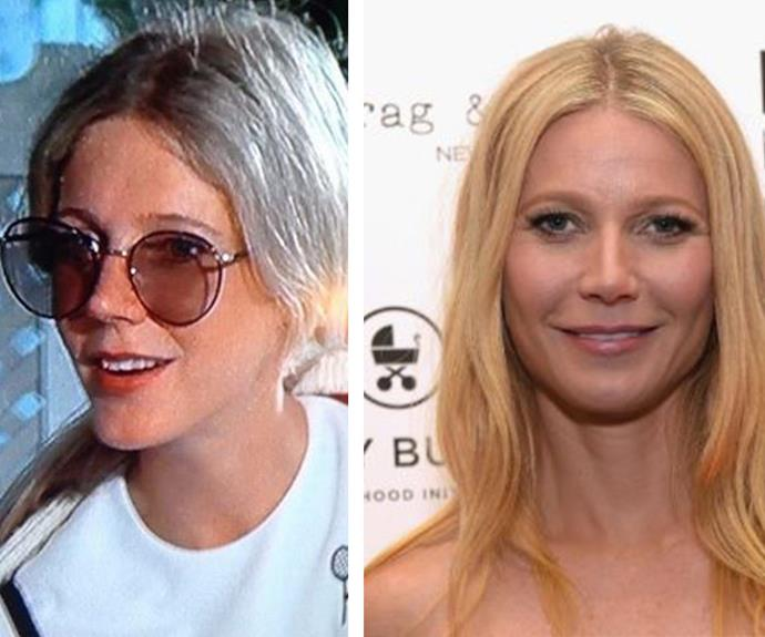 "Gwyneth also looks EXACTLY like her mother Blythe Danner when she was 29 and acting on popular show Columbo (L). ""Okay. This is weird. #isthatmeormymom,"" Gwyneth wrote."