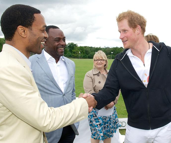 Harry was honoured to meet critically acclaimed actor Chiwetel Ejiofor.