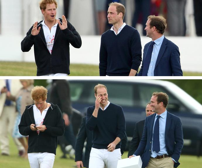 Harry and Will share a good laugh.