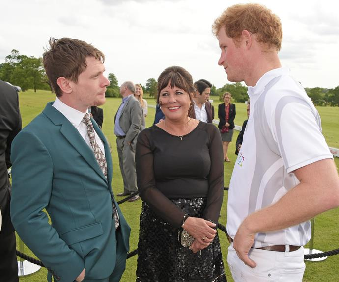 Jack O' Connell takes his mother to meet the handsome prince.