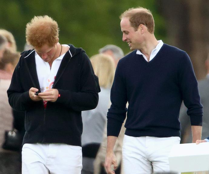 Wills smiles at his younger brother's antics.