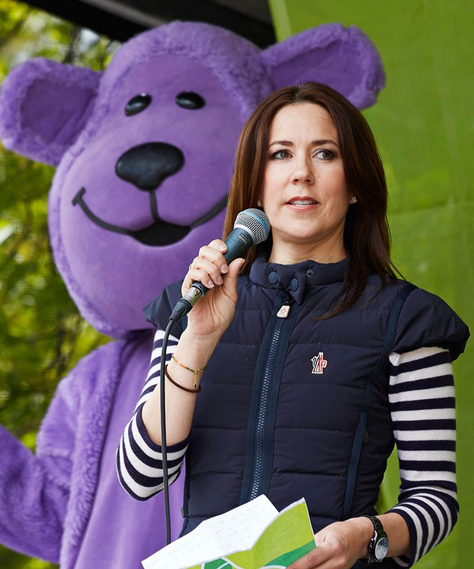 Princess Mary kept it casual at the event for her charity, which promotes anti-bullying