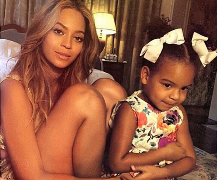 Blue Ivy Carter is looking more and more like mama Beyoncé by the day!