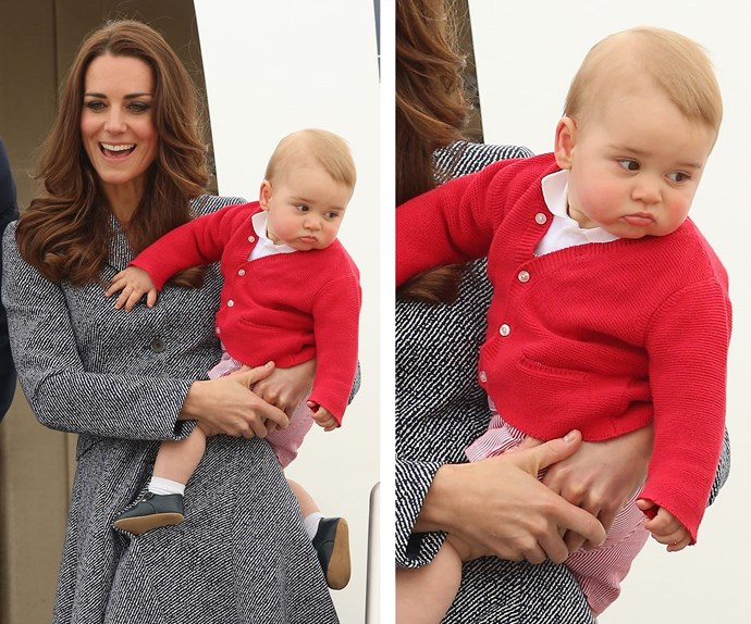 It might have been George's first official royal tour to New Zealand and Oz but the future King couldn't have looked more disenchanted about the whole affair. And that's why we love him!
