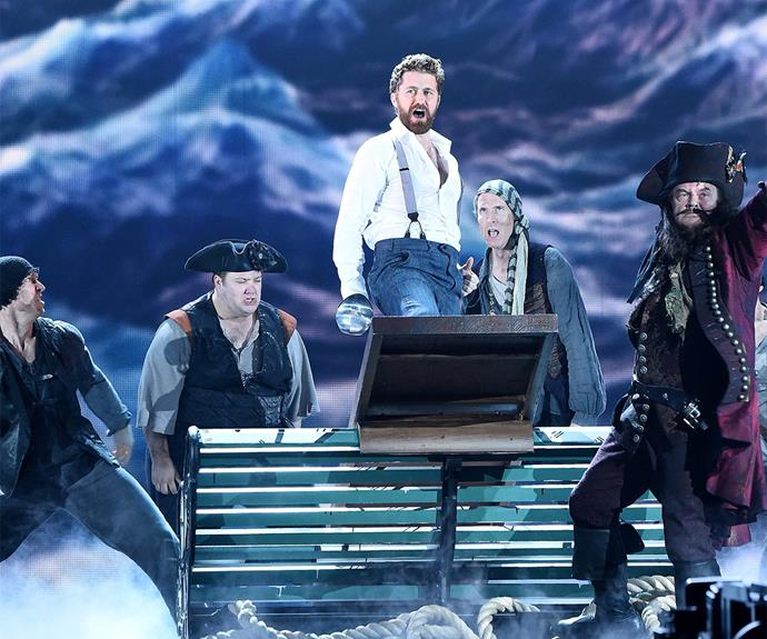 The cast of *Finding Neverland* gave a memorable performance.