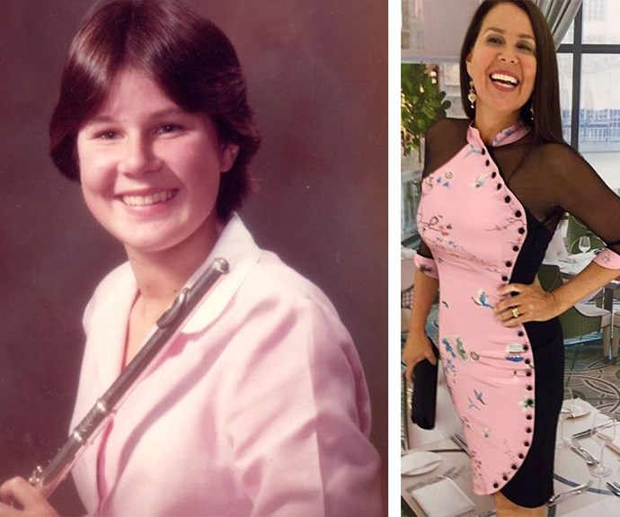 """""""So there was this one time... #ThrowbackThursday #rustyhue jx what do you mean it's not Thursday?,"""" hilarious host Julia Morris wrote alongside a retro shot of her with a flute."""