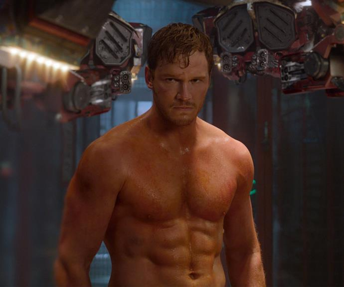 He then shocked us all by shedding his Andy Dwyer physique revealing his ripped new body for *Guardians of the Galaxy.*