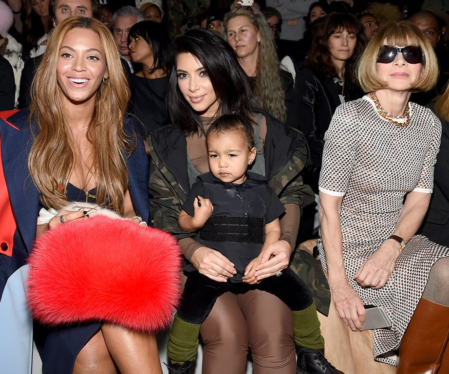 Friend in high places: She might be sitting next to Queen Bey and editrix Anna Wintour, but you won't find this one getting star struck!