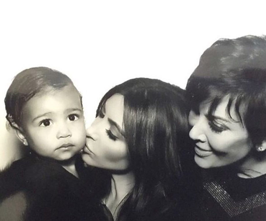 Three generations of Kardashian/Jenner/West greatness! The way Kris looks at her granddaughter is everything.