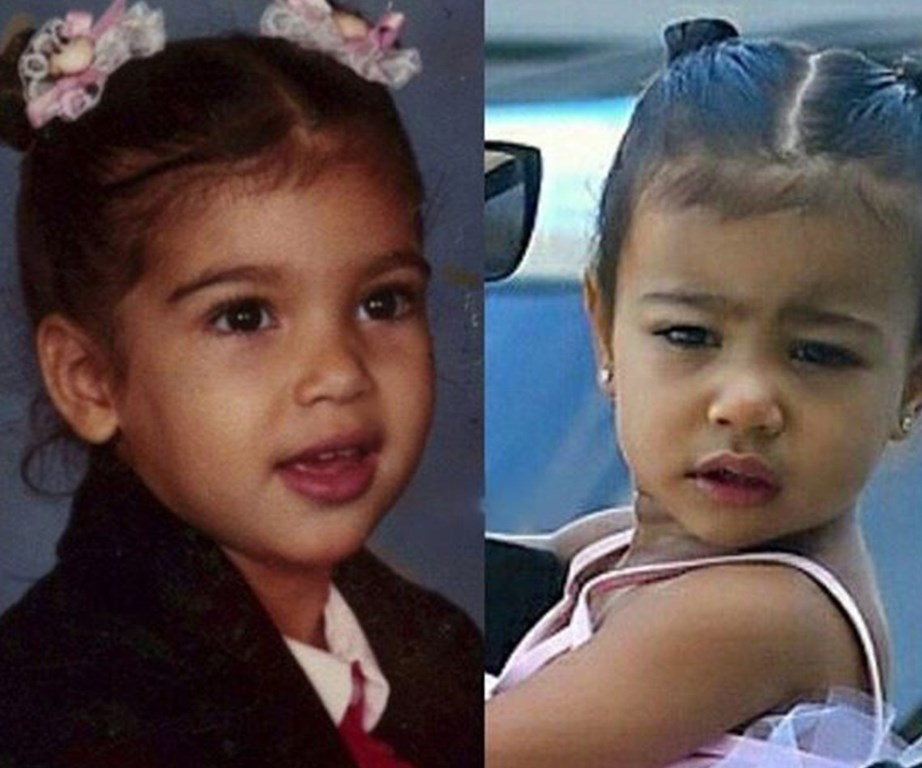 """""""My princess and I at the same age! North is seriously the sweetest, funniest girl I know!"""" Kim shared on Instagram."""