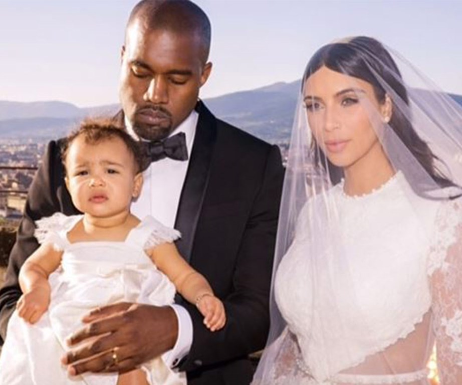 The Kardashian West clan at Kim and Kayne's magical 2014 wedding in Italy.