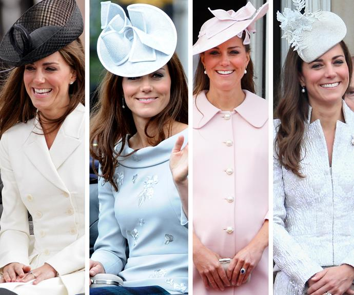 Hats off to Duchess Catherine, who always looks elegant at the celebrations.