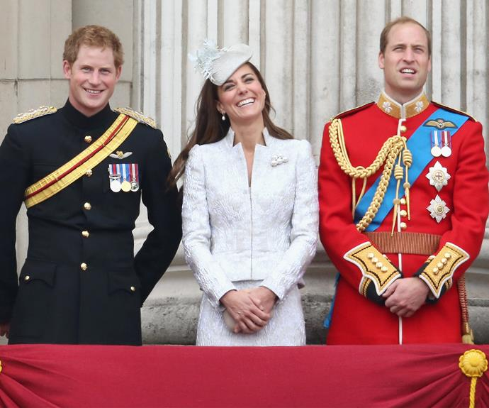 Harry, Kate and William share a laugh at the 2011 ceremony. **Watch Charlotte charm the crowds in the next slide. Gallery continues...**