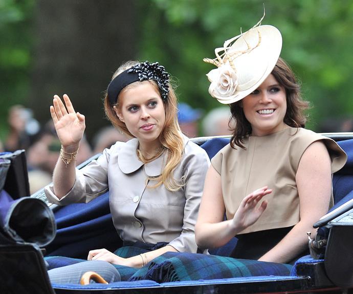Smile! Princess Beatrice and sister Princess Eugenie look beautiful.