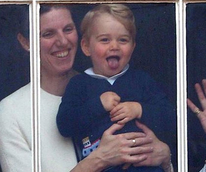 Cheeky! Looks like Prince George is out in full force.