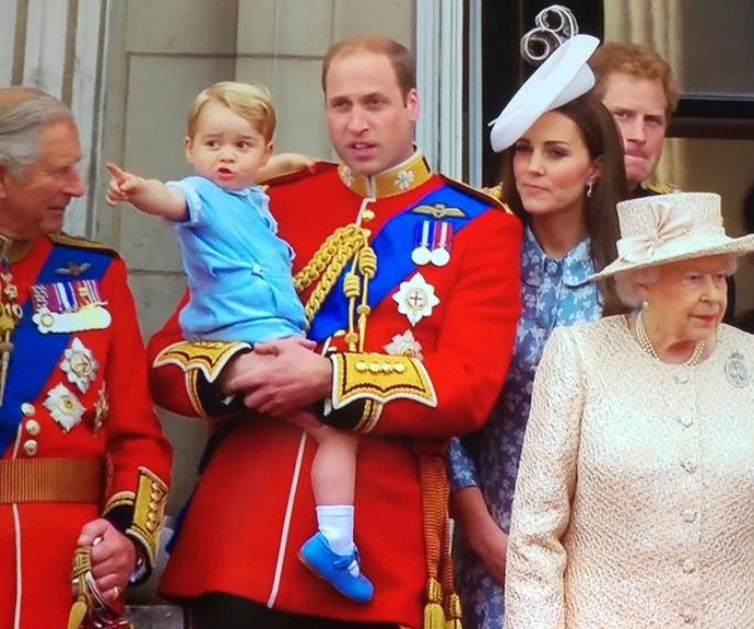 Prince George makes his first balcony appearance and he is TOO cute!