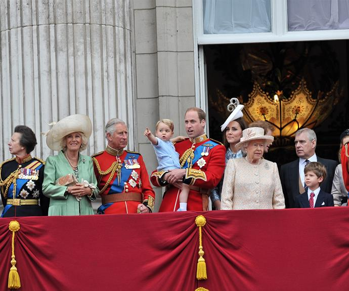The royal family have the best view on the balcony.