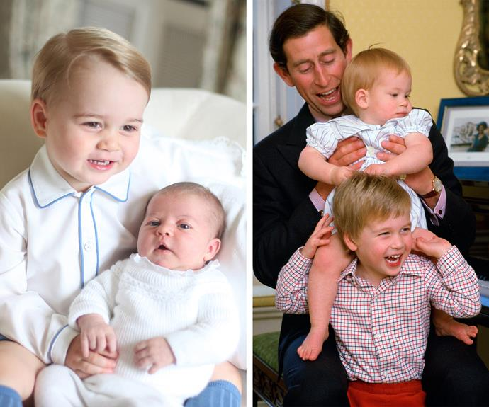 Prince George is going to be a doting big brother just like his father, Will is to Harry. Look at those smiles! These boys are stoked to be the older sibling. **Relive George's magical first few years of life in the next slide. Post continues after the video!**