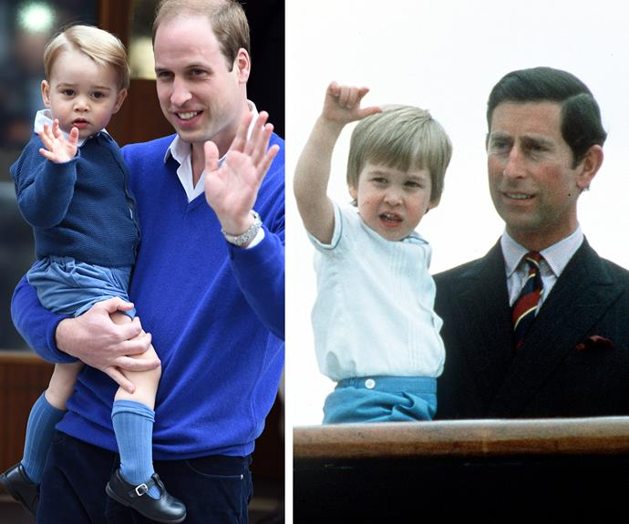 Prince George learnt the royal wave from the best, his daddy - of course.