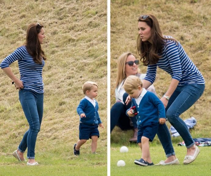 Duchess Catherine was glowing as she spent time with her eldest child. The mum-of-two looked fit, happy and trim six weeks after giving birth to Princess Charlotte.