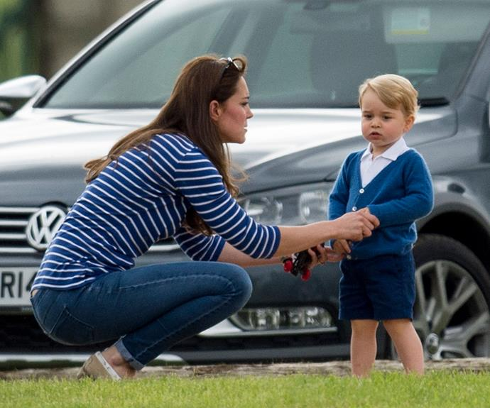 He might be third in-line to the world's longest surviving monarchy but little Prince George isn't immune from a stern word-or-two from his mum.