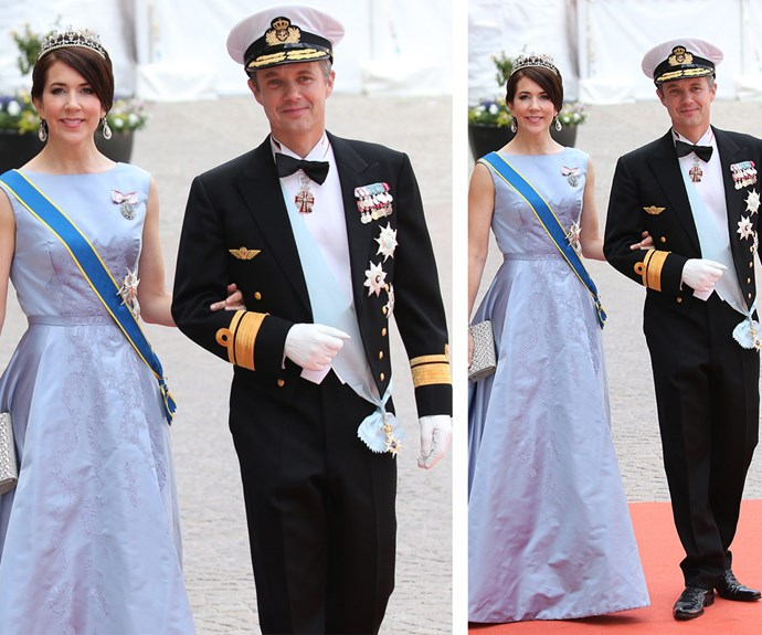 Princess Mary opted for a pastel blue floor-length gown while Prince Fred looked as handsome as ever.