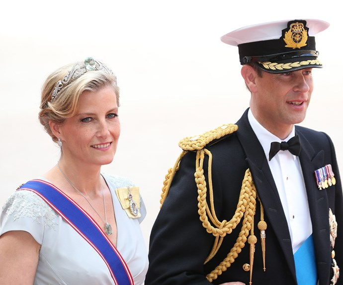 Sophie Countess of Wessex and Prince Edward missed the annual Trooping the Colour ceremony in London to make the nuptials.