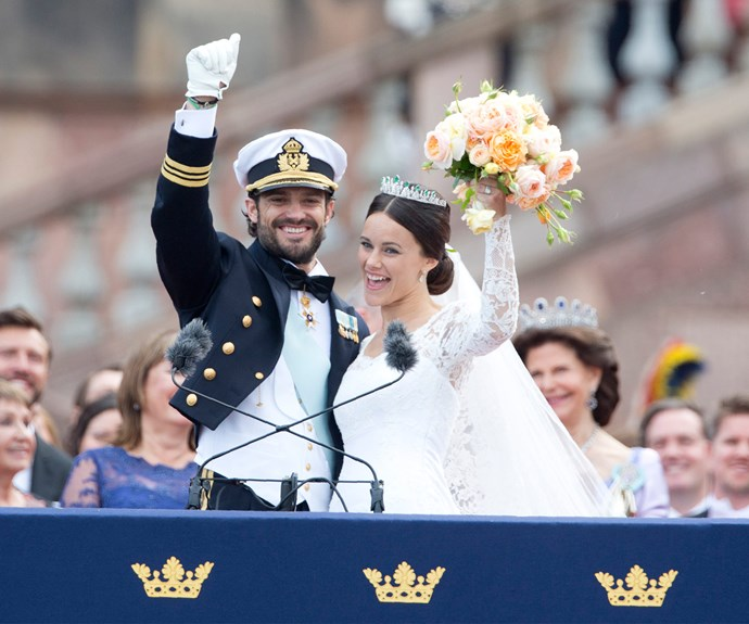 "In a moment that looked like it was straight out of a movie, handsome Prince Carl Philip, 36, addressed the thousands of well-wishers from the palace and remarked: ""It shows Sweden is a warm country with lots of love,"" before kissing his bride."