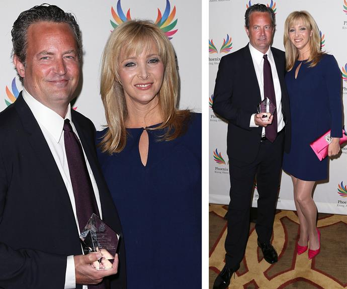 On Monday evening, Matthew Perry was presented the Phoenix Rising Award by his former *Friends* co-star Lisa Kudrow.