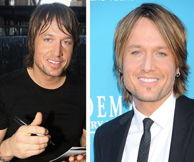 Keith Urban's changing face