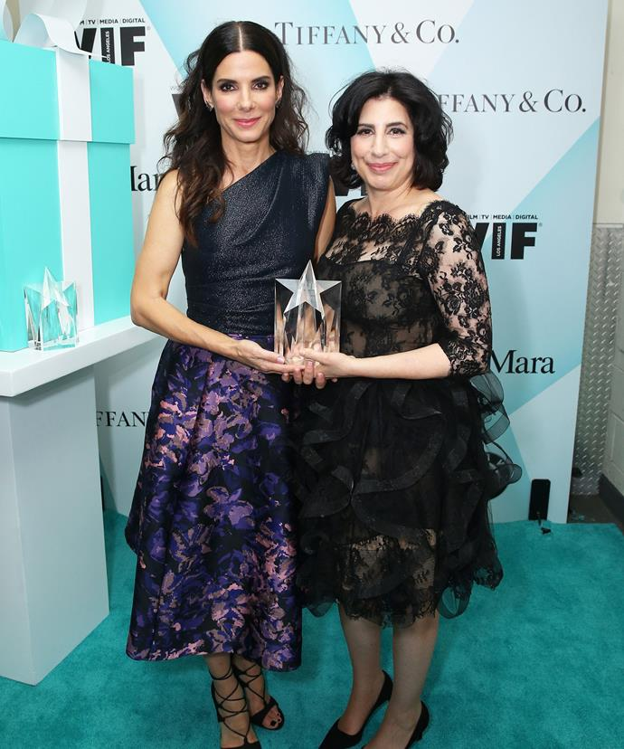 Sandra Bullock and her friend and recipient of the ward Sue Kroll