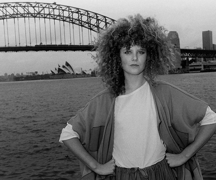 Serving up some serious sass back in 1983 as she promoted *BMX Bandits*.