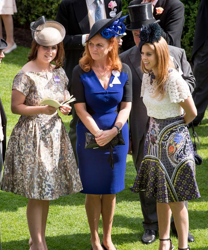 Princess Beatrice and Princess Eugenie looked gorgeous with the mum and dad by their side and Royal Ascot.
