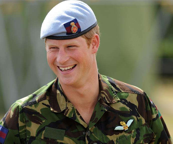 That smile! There's no denying that Prince Harry's colour is definitely Army green.