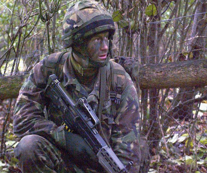 In 2006 the prince was an astute student training at the Sandhurst Military Academy.