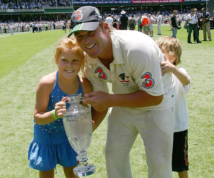 But it feels like only yesterday the gorgeous girl was joking about with her dad and little brother Jackson at the Ashes in 2005.