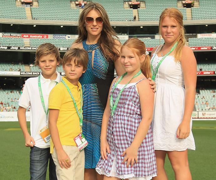 During Shane's romance with former fiancee Liz Hurley, Brooke and her siblings formed a strong bond with the actress and her son Damian.