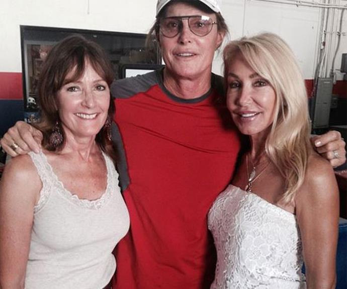 It's all water under the bridge for Caitlyn Jenner and her former wives Linda Thompson and Chrystie Crownover.