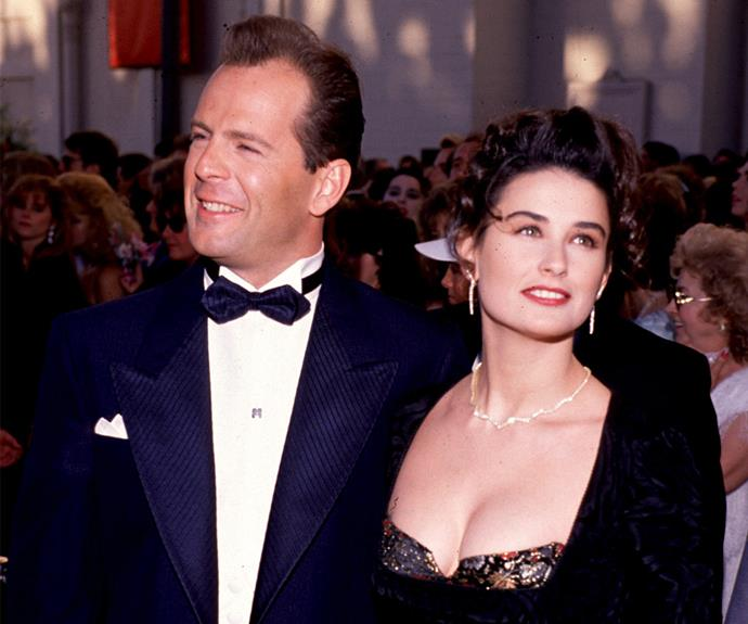 They were the ultimate Nineties power couple but after nearly 13-years of marriage Demi Moore and Bruce Willis broke up in 2000. However with three daughters, the stars have kept things extremely civil.