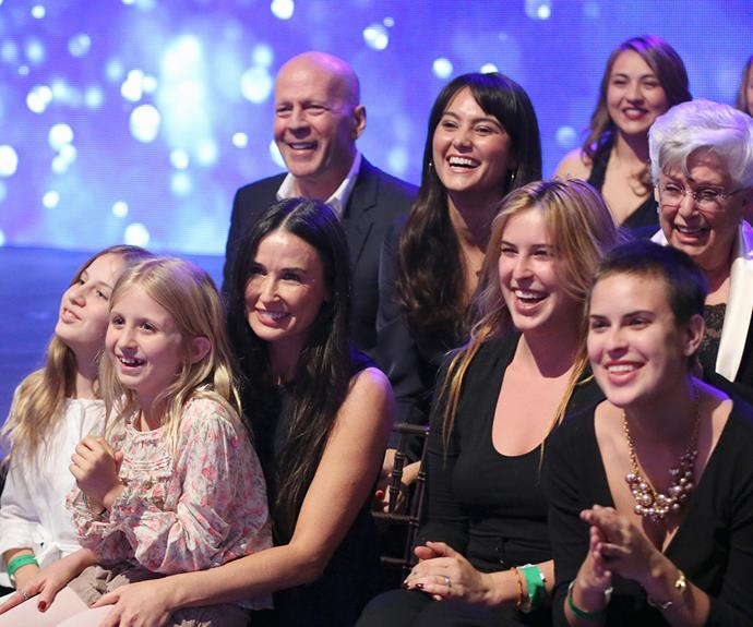 During daughter Rumer Willis' recent stint on the US series of *Dancing With The Stars* both Demi and Bruce cheered her on from the audience.