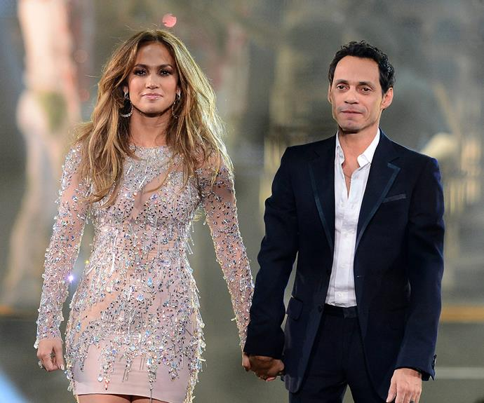 "It's not the only ex she's on good terms with. For JLo, who is currently dating back-up dancer Casper Smart, staying courteous with ex-husband Marc Anthony was a no brainer. ""When you have kids, you have to think about those things. It's not just about you anymore. It's about them."""