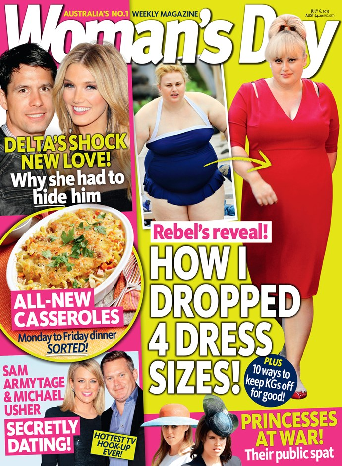 Read all about Rebel's body transformation thanks to her love diet in this week's Woman's Day!