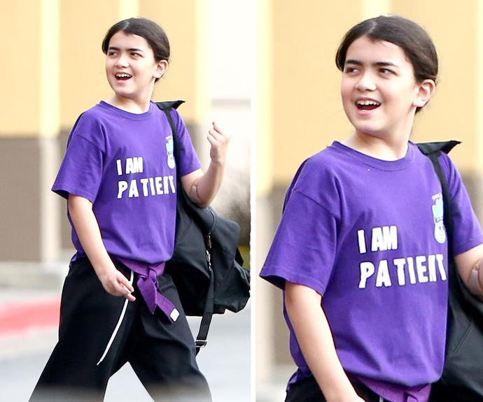 Blanket Jackson prefers to go by the name Bigi these days and is an avid karate enthusiast.
