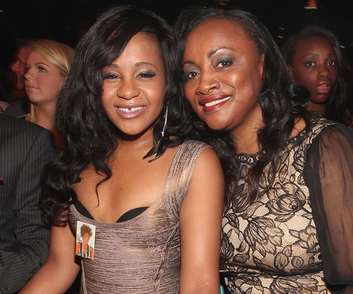 Bobbi Kristina attends the 2012 Billboard Music Awards with her aunt, Pat Houston.