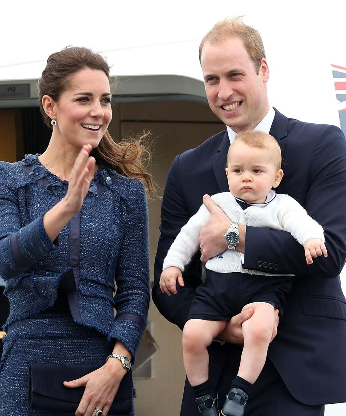 We like to think this is pretty much what it looked like when Wills, Kate and oldest child George greeted Brangie!