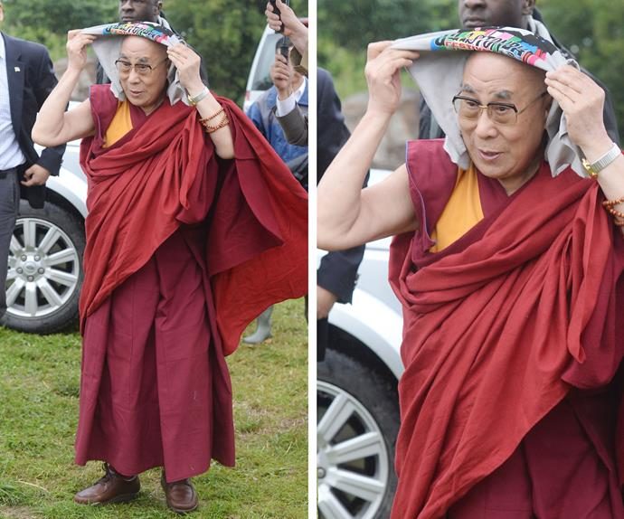 I don't know about you, but we are fuming that we missed the chance to party with the Dalai Lama at Glastonbury!