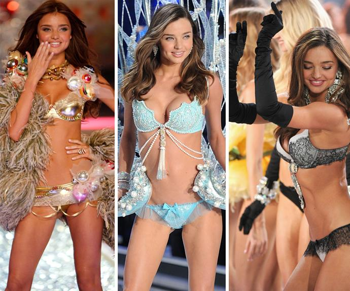 Miranda Kerr was the first Australian to walk the Victoria's Secret runway in 2006, making her one of our favourite Angels of all time. Her charming smile and adorable dimples win her the title of catwalk queen.