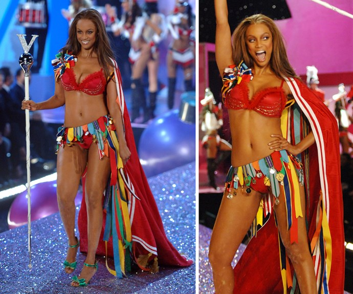 She's fierce, she's fabulous and she knows how to make it on top! These days, Tyra Banks is fashion TV mogul, but we'll always remember her as one of the original Angels, who first hit the runway in 1996.