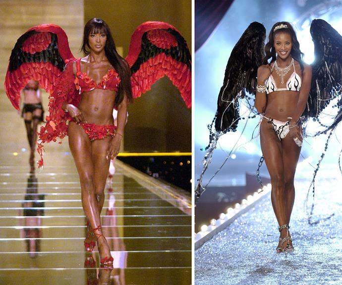 "Naomi Campbell is one of the world's first supermodels, clocking up mileage on her ""super"" status by strutting up a storm on the VS runway back in 1996."
