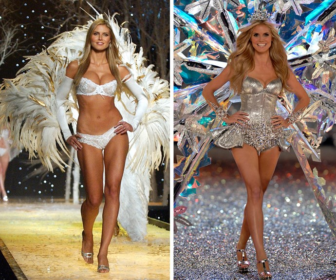 Super-babe Heidi Klum first walked the VS catwalk in 1997, and had a sparkling 13-year run with the lingerie brand.